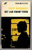 Prisma Detective 55: Het Lijk Kwam Terug (Philip Macdonald) (Het Spectrum 1966) - Détectives & Espionnages