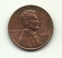 1952 - Stati Uniti 1 Cent   D - 1909-1958: Lincoln, Wheat Ears Reverse