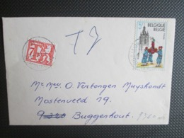 1947 - Thuin - Op 2 Briefjes Uit St Amands Waarvan 1 Getaxeerd - Belgique