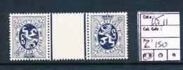 BELGIQUE BELGIUM COB KT11 MNH POSTFRIS SANS CHARNIERE - Inverted (tête-bêche)