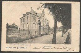Gruss Aus Schlettstadt, Amtsgericht. Karte Aus 1902. Arrondissement Sélestat - Erstein, Bas Rhin. - Elsass
