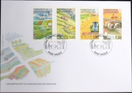 Liechtenstein 2010: Landwirtschaft & Viehzucht Zu 1492-95 Mi 1549-52 Yv 1490-93 FDC (Zu CHF 11.00) - Koeien