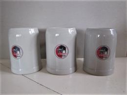 Lot De 3 Tasses Unibra Congo- Hauteur : 13 Cm. - C 20 - Cups