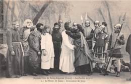 Amicale Libre De BOURG ARGENTAL La Passion En 1913 Le Baiser De Judas Arrestation De Jesus 12(SCAN RECTO VERSO)MA109 - Bourg Argental