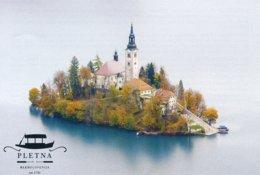 Slowenien Bled Fahrschein Schiff Zur Insel Mit Kirche Der Gottesmutter Auf Dem See - Europa