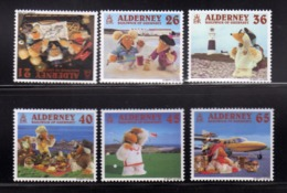 ALDERNEY 2000 A WOMBLING HOLIDAY THE STAMP SHOW COMPLETE SET SERIE COMPLETA MNH - Alderney