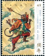 Ref. 171839 * MNH * - CANADA. 2004. NEW CHINESE YEAR OF THE MONKEY . NUEVO AÑO CHINO DEL MONO - Astrology