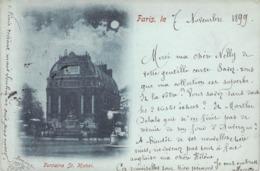 """CPA FRANCE 75 """"Paris, Fontaine Saint Michel"""" / BLEU A LA LUNE - Autres"""