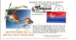 REVOLUTION FRANCAISE 1 ER JOUR FLAMME AVIGNON VAUCLUSE - French Revolution