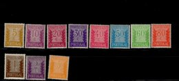Portugal Portomarken Ziffern 59 - 69 A MLH * Mint - Segnatasse