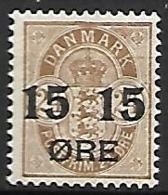 DANEMARK     -   1904.    Y&T  N° 42 *.  Surchargé - Nuovi