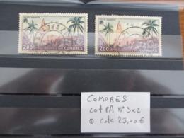 COLONIES COMORES PA N°3 X 2ex. OBLITÉRÉ COTE 23 EUROS VOIR SCAN - Comores (1950-1975)
