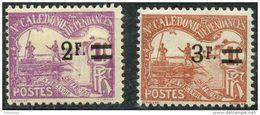Nouvelle Caledonie (1926) Taxe N 24 à 25 * (charniere) - Nouvelle-Calédonie