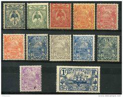 Nouvelle Caledonie (1922) N 114 à 125 * (charniere) - Ungebraucht