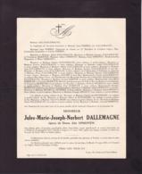 LIEGE TILLEUR Jules DALLEMAGNE époux Alix OPHOVEN 1871-1945 Enterrée à Fentin - Décès