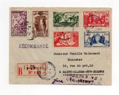!!! PRIX FIXE : INDOCHINE, SERIE EXPOSITION 1937 SUR LETTRE RECOMMANDEE DE SAIGON POUR LA FRANCE - Indochine (1889-1945)