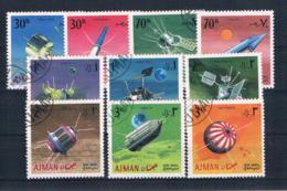 Adschman 1968 Raumfahrt Mi.Nr. 257/66 Kpl. Satz Gestempelt - Adschman