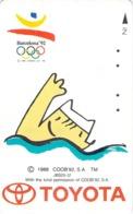 BD - DESSIN - MANGA - SPORT - MASCOTTE -  JEUX OLYMPIQUES - J O - Télécarte Japon - Sport