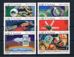 Vietnam 1978 Raumfahrt Mi.Nr. 990/95 Kpl. Satz ** - Vietnam
