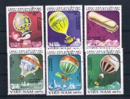 Vietnam 1983 Ballon Mi.Nr. 1298/304 Kpl. Satz Gestempelt - Vietnam