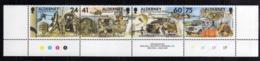 ALDERNEY 1996 SIGNAL REGIMENT REGGIMENTO STRIP STRISCIA MNH - Alderney