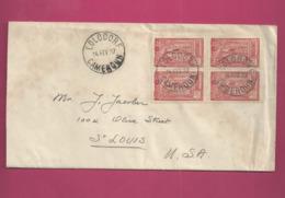 Lettre De 1937 Pour Les EUAN - YT N° 121 En Bloc De 4 - Cameroun (1915-1959)