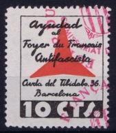 Spain: Barcelona Ayudad Foyer De Francais Antifascista Cancelled - Spanish Civil War Labels