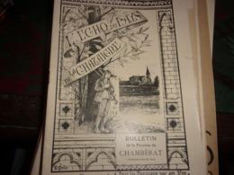BOURBONNAIS ALLIER CHAMBERAT  L ECHO DU PAYS DE LA CHATAIGNE AOUT 1911 - Bourbonnais