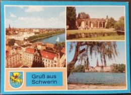 Ak DDR - Schwerin  - Übersicht - Orangerie - Am Pfaffenteich - Wappen - Schwerin