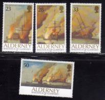 ALDERNEY 1992 Battle Of La Hogue BATTAGLIA COMPLETE SET SERIE COMPLETE MNH - Alderney