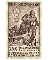 Ref. 42211 * MNH * - CZECHOSLOVAKIA. 1955. 30th MOTORCYCLE RACE AT GOTTWALDOV . 30 CARRERA MOTOCICLISTA DE GOTTWALDOV - Neufs