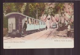 CHEMIN DE FER MONTREUX OBERLAND ENTREE DU TUNNEL DE JAMAN - Trains