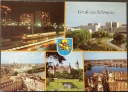 Ak DDR - Schwerin  - Stadtansichten - Tram - Wappen - Schwerin