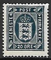 DANEMARK     -   Timbre De Service   -  1915.    Y&T  N° 19* - Officials