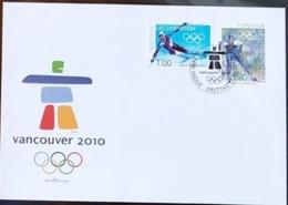 Liechtenstein 2010: Olympiade Vancouver: Ski Alpin & Nordisch Zu 1486-87 Mi 1543-44 Yv 1484-85 FDC (Zu CHF 8.00) - Winter 2010: Vancouver