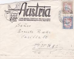 BUSTA VIAGGIATA  - BOLIVIA - LA PAZ - HOTEL AUSTRIA  VIAGGIATA PER ORURO ( BOLIVIA ) - Bolivia