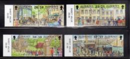 ALDERNEY 1998 HISTORICAL DEVELOPMENT GARRISON HISTORY COMPLETE SET SERIE COMPLETA MNH - Alderney