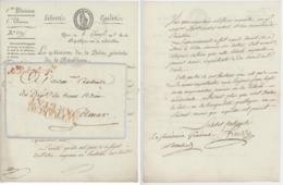 Paris An An 8 - 28.1.1800 Le Ministère De La Police Générale Héraldique Sujet : Cérémonies,culte + Signature Lombard - Marcophilie (Lettres)