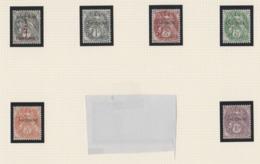 ANDORRE FRANCAIS 1 A 6 TRES BIEN CENTRE ET SANS CHARNIERE - Unused Stamps