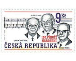Ref. 89369 * MNH * - CZECH REPUBLIC. 2002. PERSONAJES DE LA MUSICA POPULAR - Repubblica Ceca