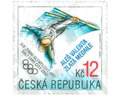 Ref. 101019 * MNH * - CZECH REPUBLIC. 2002. MEDALLERS OF 19th WINTER OLYMPIC GAMES. SALT LAKE CITY 2002 . MEDALLISTAS DE - Repubblica Ceca