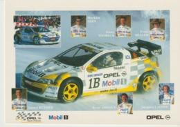 C.P. - PHOTO - OPEL - VAINQUEUR DU TROPHÉE ANDROS 97/98 - 6 VICTOIRES SUR 7 COURSES - MOBIL 1 - RENÉ ARNOUX - H JAMES - Motorsport