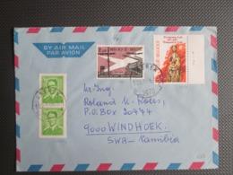 1989 - Millennium Prinsbisdom Luik - Plaatnummer 1 Op Luchtpostbrief Naar Windhoek Namibia - Covers & Documents