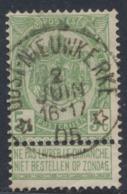 "Fine Barbe - N°56 Obl Relais ""Oost-Nieuwkerke"". Superbe Centrage / COBA : 20 - 1893-1900 Barbas Cortas"