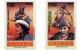 Ref. 30836 * MNH * - CHILE. 1989. AMERICA UPAEP. PRECOLUMBIAN CITIES, CUSTOMS AND HABITS. . AMERICA-UPAEP 1989 -  PUEBLO - Tir à L'Arc