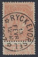"Fine Barbe - N°57 Obl Relais (concours) ""Ryckevorsel"" / COBA : 50 - 1893-1900 Barbas Cortas"