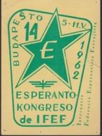 AKEO Card About 14th Railways Esperanto Conference In Budapest 1962 - IFEF-Kongreso Esperanto - Special Cancellation - Esperanto