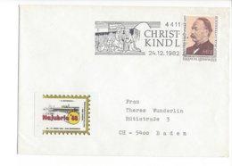 22497 - Christkindl 1982 Pour Baden 24.12.1982 + Vignette Najubria - Noël