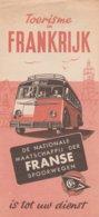SNCF Brochure ; Nederlands, Uitgave1950,Franse Spoorwegen - Railway