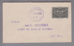 Guatemala 1897-09-11 10 Cents Ganzsache Gelaufen - Guatemala